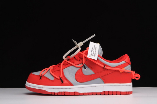 PK毒版Off-White x NK Dunk Low 联名红灰_工厂业务pk