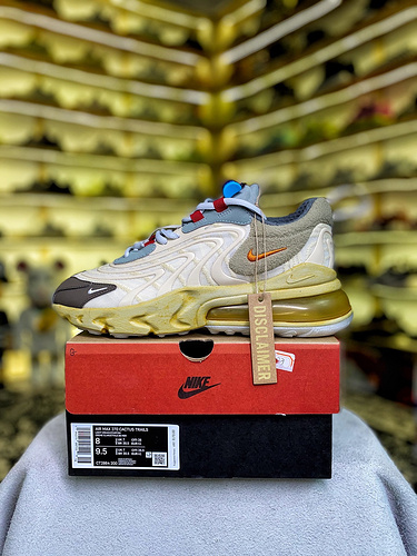 Travis Scott x Air Max 270 React 鬼脸做旧 货号:CT2864-200_安福特供版AJ1