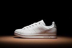 阿迪达斯/ADIDAS STAN SMITH 三叶草史密斯头层皮牛真标板鞋 带半码 Size:36-44码