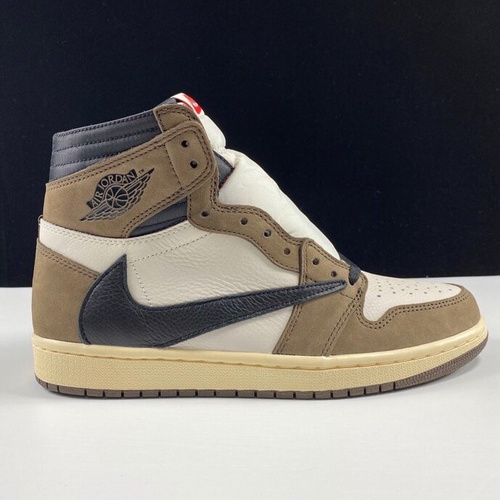 LJR鬼脸倒钩Travis Scott x Air Jordan 1 High OG TS SP CD4487-100 倒钩_倒钩ljr版本
