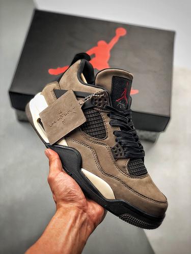 Travis Scott x Nike Air Jordan 4 说唱歌手·斯科特联名款 鸳鸯尾巴 橄榄绿配色 AJ4-882335_莆田鞋最有名气的大佬