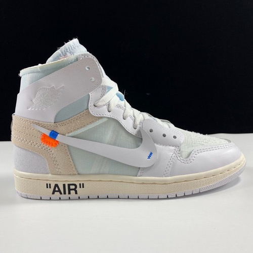 OG纯原 Off-White x Air Jordan 1 OW白黑涂鸦配色 AQ0818-100_ljr版本跟og版本哪个好