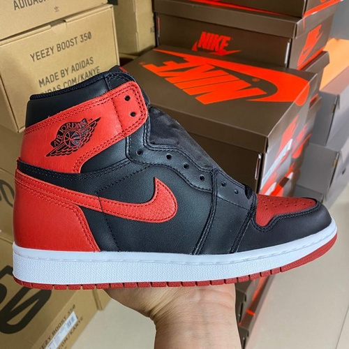 "aj1禁穿LJR版本 Air Jordan 1 Retro OG High ""Banned"" 黑红禁穿 555088-001_ljr版本有女码"