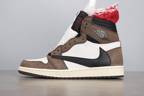 LJR版本 Air Jordan 1 x Travis Scott AJ1高帮深棕反倒钩 CD4487-100_莆田god版本鞋是什么意思