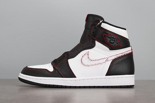 LJR版本 Air Jordan 1 AJ1 拆线黄勾 拆钩 黑白脚趾 CD6579-071_ljr版本aj