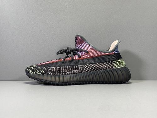 "OG版椰子350V2黑红满天星 Yeezy Boost 350 V2""YECHRF""货号FX4145_莆田哪个鞋厂最好"