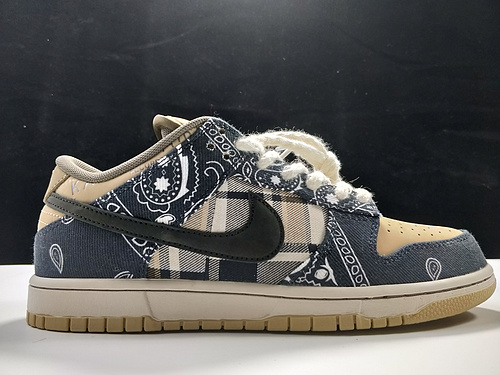 S2 版本Travis Scott × SB Dunk Low 腰果花 货号:CT5053-001_莆田鞋god版是什么意思