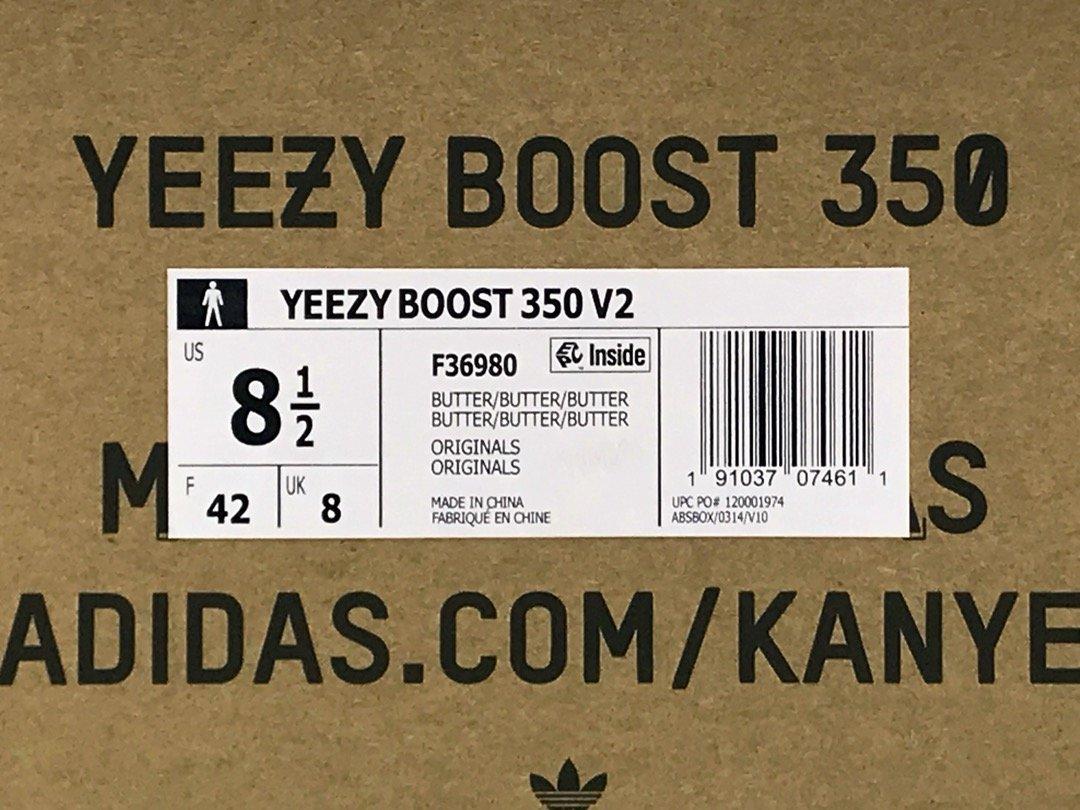 OG版_350V2 奶油黄 adidas yeezy 350 V2 boost,货号_F36980_椰子500 s2与og差别