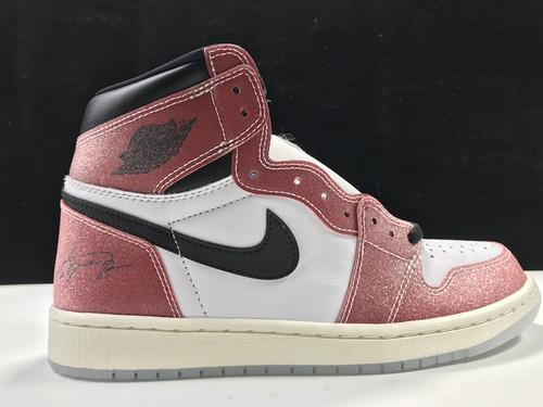 "Trophy Room x Air Jordan 1 High OG SP ""Chicago"" AJ1代经典复古经典高帮百搭文化篮球鞋""联名黑红芝加哥""DA2728-100_莆田god版本鞋是什么意思"