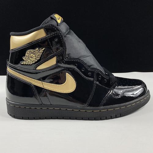 """Air Jordan 1 WMNS """"Metallic Gold"""" 东莞AJ黑金配色 555088-032_莆田god版本"""