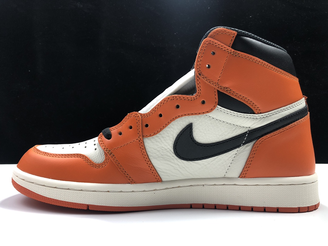 S2版:AJ1 白扣碎   莞产 Air Jordan 1 RETRO HI OG,货号:555088-113_aj1ljr版本