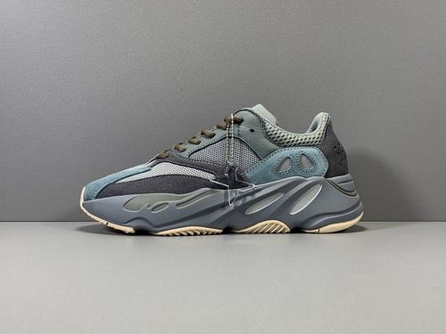 X版纯原_700 青蓝 Adidas Yeezy 700 TEABLU,货号_FW2499_莆田鞋x版aj