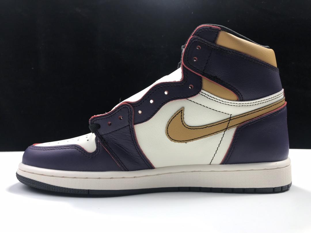 莞S2版:AJ1刮刮乐 湖人紫 AJ1 x Nike Dunk SB Lakers,货号:CD6578-507_ljr与纯原版本的区别