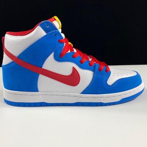 Dunk 白蓝红 Nike SB Dunk High Pro ISO Photo Blue哆啦A梦 蓝胖纸_莆田鞋ljr版本