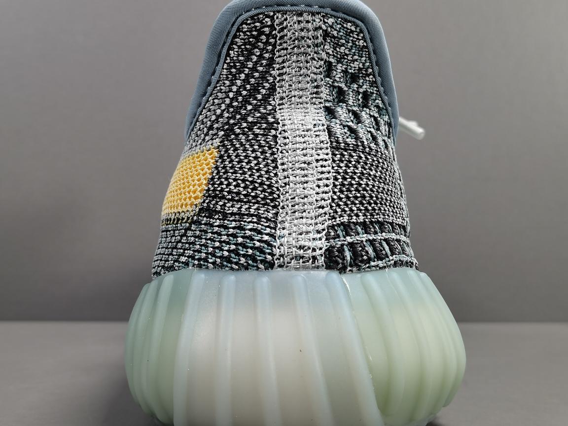"【OG版:350V2】 蓝色 水洗丹宁Adidas Yeezy Boost 350 V2 ""Ash Blue"",货号GY7657_椰子pk版本是什么意思"