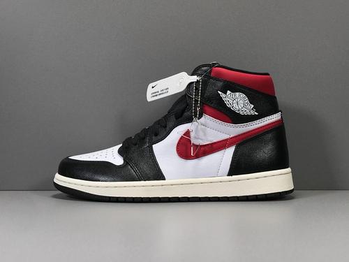 X版_AJ1 白黑 莞产 Air Jordan 1 Retro High OG,货号_555088-061_莆田鞋xp版什么意思
