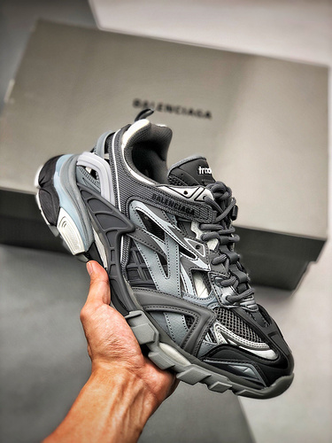 BALENCIAGA Track 2 Sneakers 巴黎世家 轨道镂空二代 酷灰_s2纯原和原装