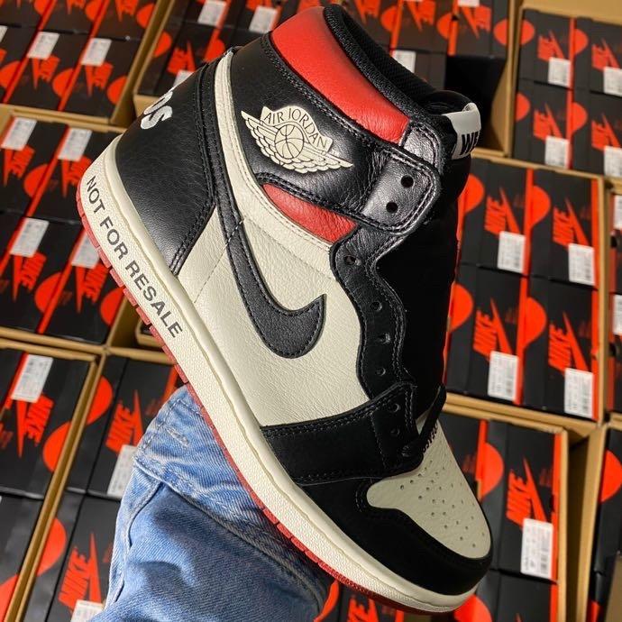 "aj1禁止黑红LJR版本 Air Jordan 1 Retro OG High NRG""No L's "" 黑白红配色 861428-106_哪里有ljr版本的鞋子"