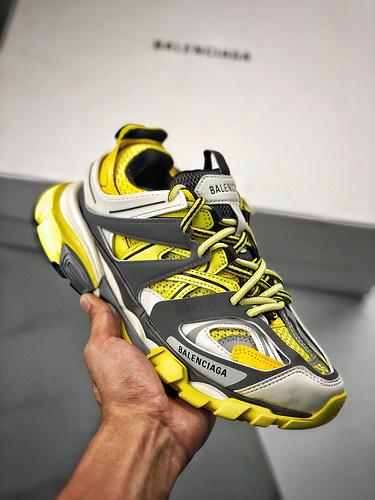 S2纯原巴黎世家-Balenciaga 3.0 Sneaker Tess.s. Gomma MAILLE 白黄 原版原_东莞鞋和莆田哪个好