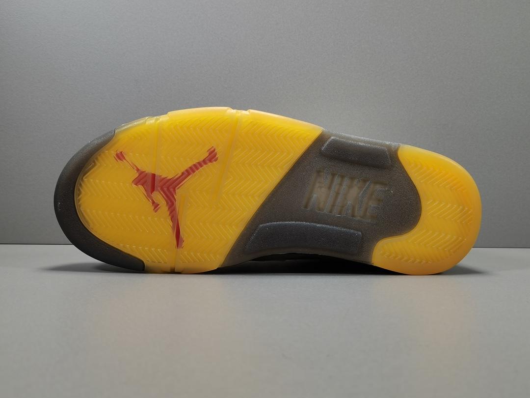 OG版:OW X AJ5 白蝉翼   Off-white x Air Jordan Retro 5 SP ,货号:CT8480-100_椰子og版本和纯原哪一个好