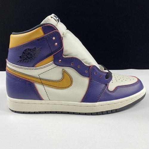 Nike SB x Air Jordan 1 Retro High OG 东莞AJ 湖人紫金刮刮乐配色 CD6578-507_莆田god版
