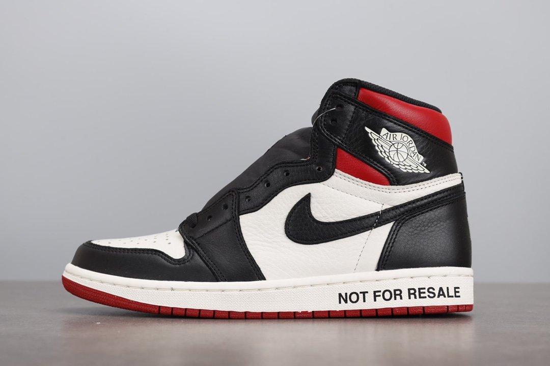 "LJR版本  Air Jordan1 NRG ""No L's"" AJ1 禁止转卖 黑红 861428-106_ljr版本好og"
