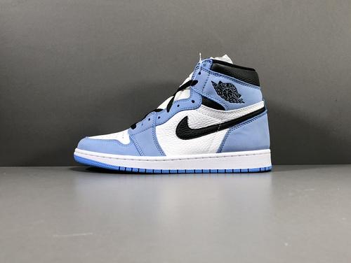 "【GOD版:乔1】 大学蓝 Air Jordan 1 Retro High OG/UniversityBlue""货号:555088-143_莆田god版本鞋做的怎么样"