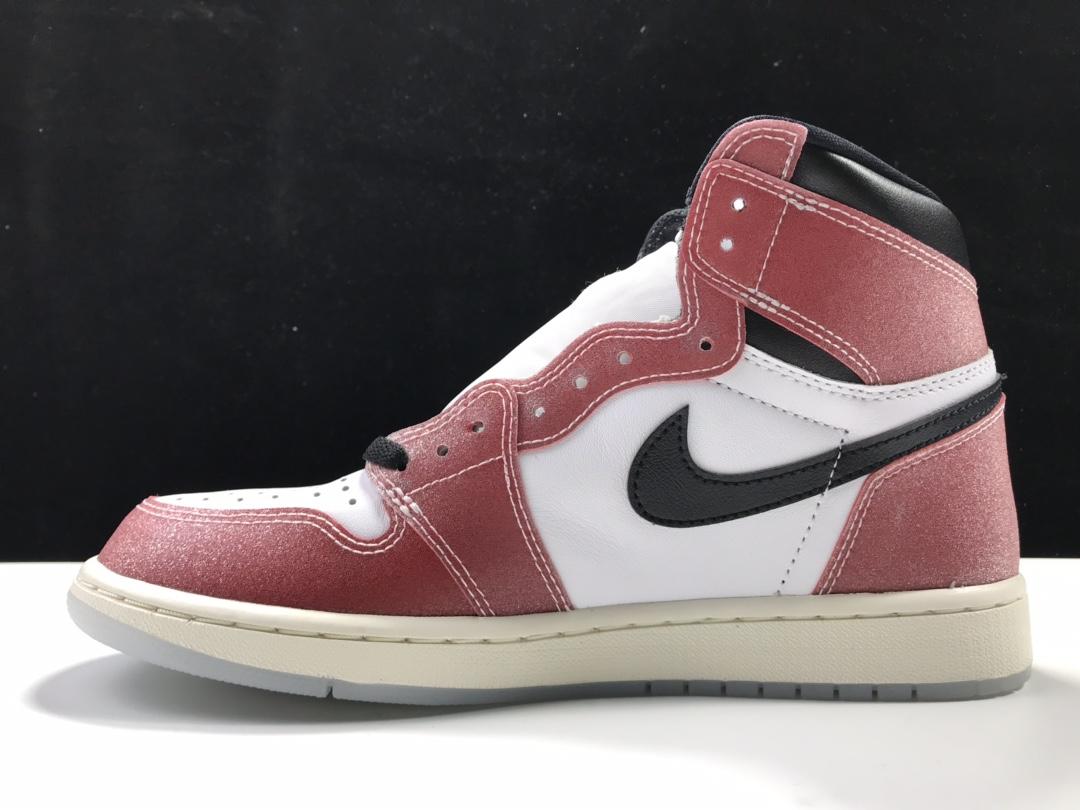 "Trophy Room x Air Jordan 1 High OG SP ChicagoAJ1代经典复古经典高帮百搭文化篮球鞋""联名黑红芝加哥""DA2728-100_get版本和ljr版本"