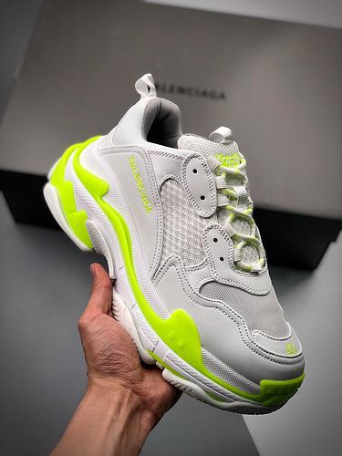 Balenciaga Triple S 白绿_莆田哪个厂的鞋最好