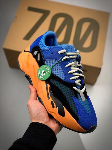 AD Yeezy Boost 700 Bright Blue  蓝橙色 货号:GZ0541_s2纯原aj1是什么品质