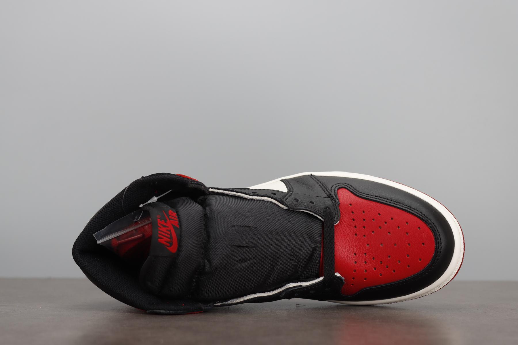 LJR版本 Air Jordan 1 OG Bred Toe AJ1黑红脚趾 555088-610_ljr版本去哪里买