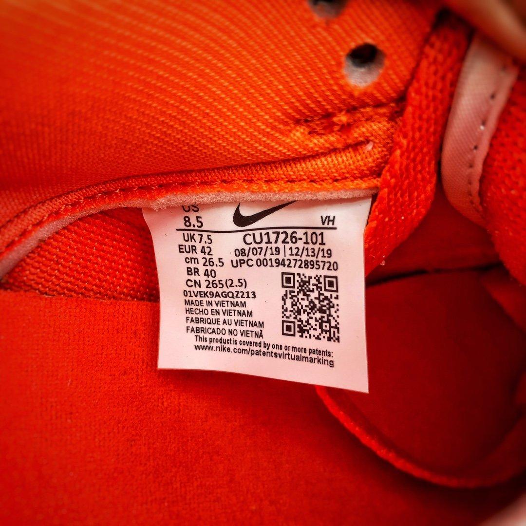 Nike SB Dunk Low Pro  经典回归 白橘雪城 白橙 CU1726-101_莆田假鞋都可以过毒了