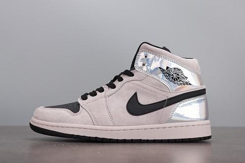 Nike Air Jordan1 AJ1 mid 脏粉 镭射 黑粉 女款 球鞋 BQ6472-602