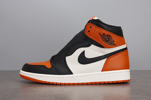 LJR AJ1 Retro High OG AJ1乔1 白橙白扣碎篮板555088-005_ljr版本有什么鞋做得好的