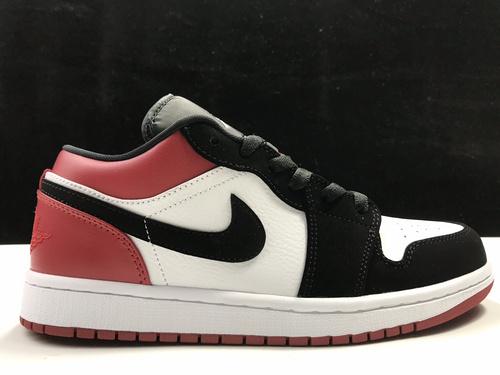 莞H版:AJ1 Low黑红低帮 Air Jordan 1 low OG,货号:553560-116_莆田god版本和h12版本哪个好