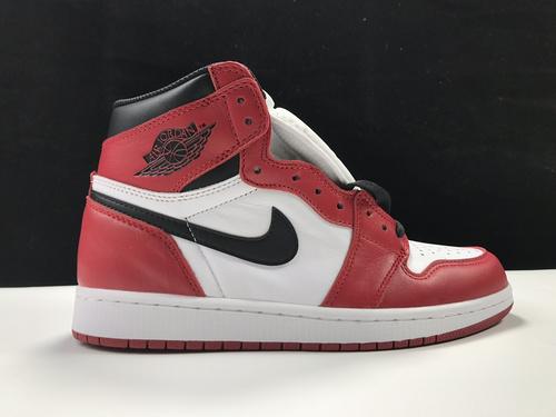 莞N版:AJ1 芝加哥   莞产 Air Jordan 1 RETRO HI OG,货号:555088-101_ljr什么版本