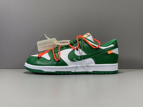 X版纯原_DUNK OW 白绿  OFF-WHITE x Nike Dunk Low,货号_CT0856-100_莆田x10版本椰子500
