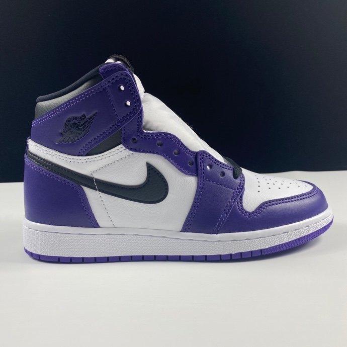 LJR新白紫版本 Air Jordan 1 High aj1新白紫 梦幻女神款 紫加哥白紫葡萄脚趾配色 575441-500_ljr版本好og