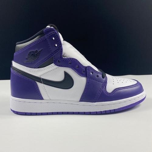 LJR新白紫版本 Air Jordan 1 High aj1新白紫 梦幻女神款 紫加哥白紫葡萄脚趾配色 575441-500_莆田god版本鞋是什么意思