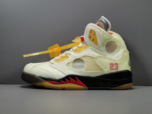 OG版_OW X AJ5 白蝉翼  Off-white x Air Jordan Retro 5 SP ,货号_CT8480-100_毒og版公司货是什么意思