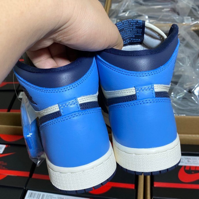 LJR黑曜石女版 Air Jordan Retro High OG ' Obsidian ' 黑曜石蓝脚趾 555_椰子满天星ljr版本