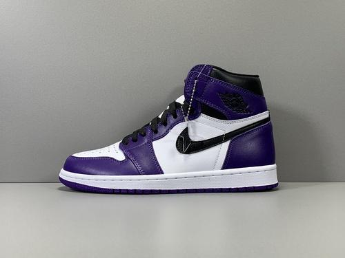 X版_AJ1 白紫 莞产 Air Jordan 1 Retro High OG,货号_555088-500_莆田鞋xp版什么意思