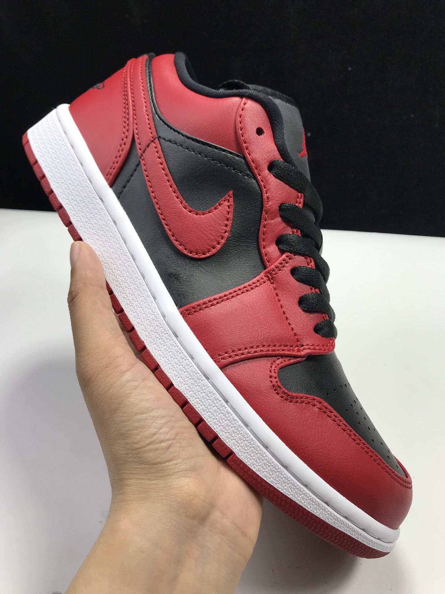 莞H版:AJ1 Low反转禁穿低帮 Air Jordan 1 low OG,货号:553558-606_ljr的版本在哪里买