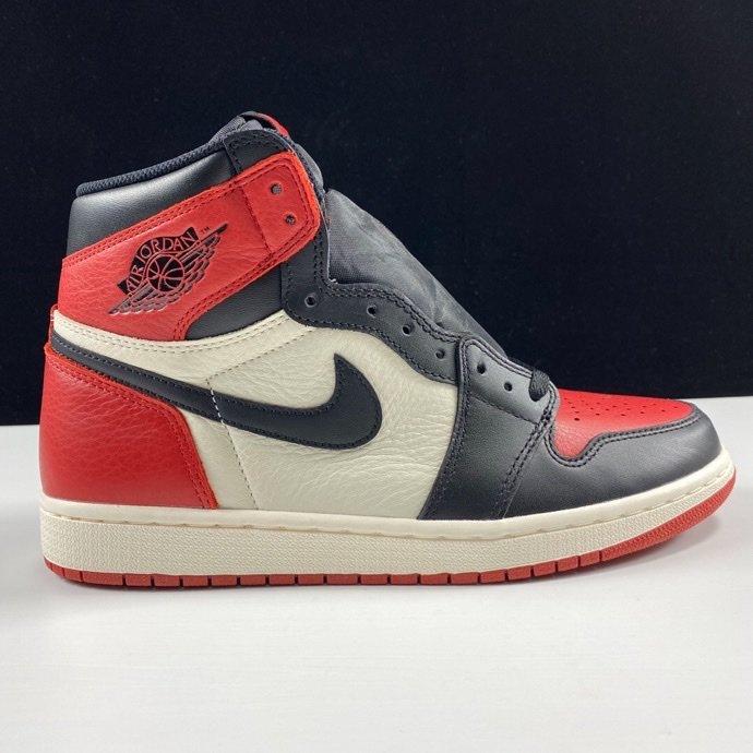 """LJR黑红脚趾 Air Jordan 1 Retro OG High """"Bred Toe"""" GS 2018款 黑脚趾2.0配色 575441-610_哪里有ljr版本的鞋子"""