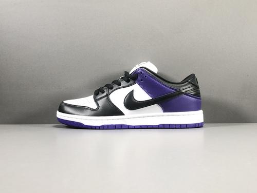 """【纯原版:DUNK】黑紫 NIKE SB Dunk Low PRO""""Court Purple""""货号:BQ6817-500_莆田x版是什么意思"""