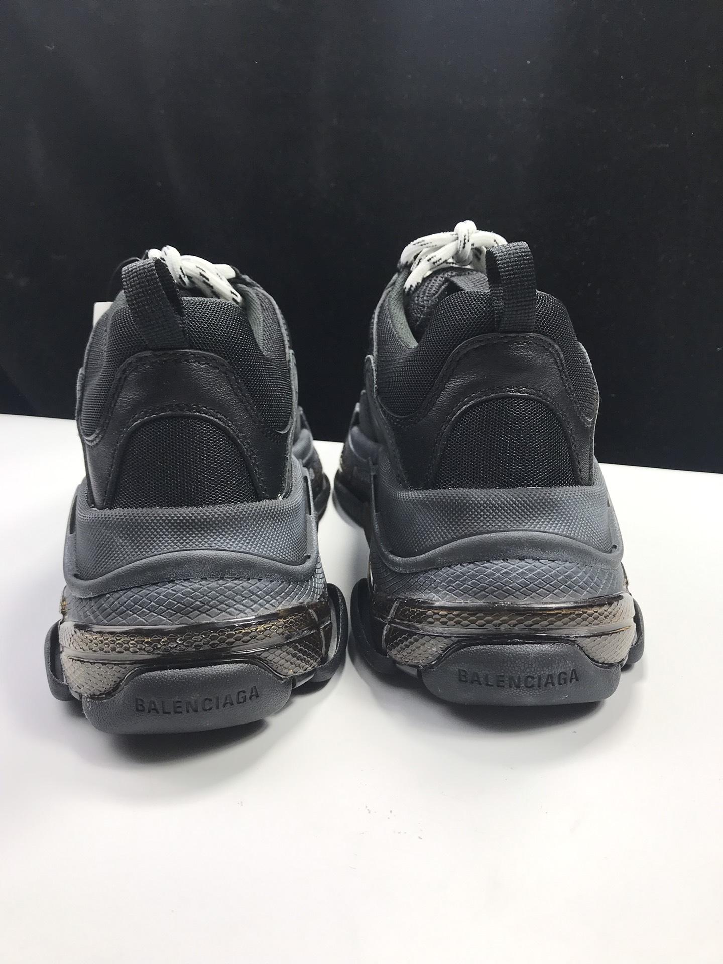 巴黎老爹鞋全黑 国产版 Balenciaga Tripe-S 巴黎世家复古老爹鞋_ljr版本aj