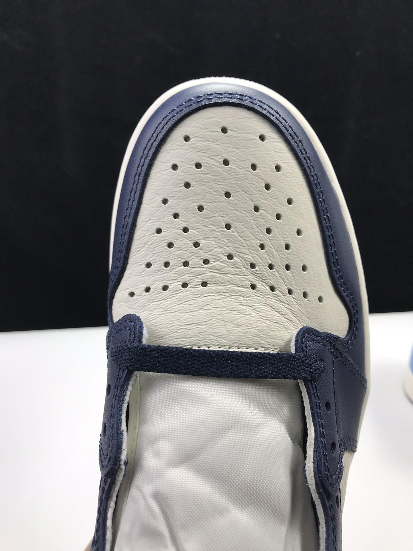 东莞L版:AJ1北卡蓝  莞产 Air Jordan 1 Retro High OG,货号:555088-140_ljr版本和正品