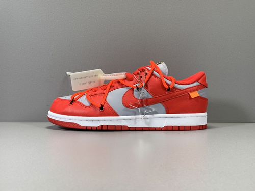 X版纯原_DUNK OW 灰红  OFF-WHITE x Nike Dunk Low,货号_CT0856-600_莆田鞋x版