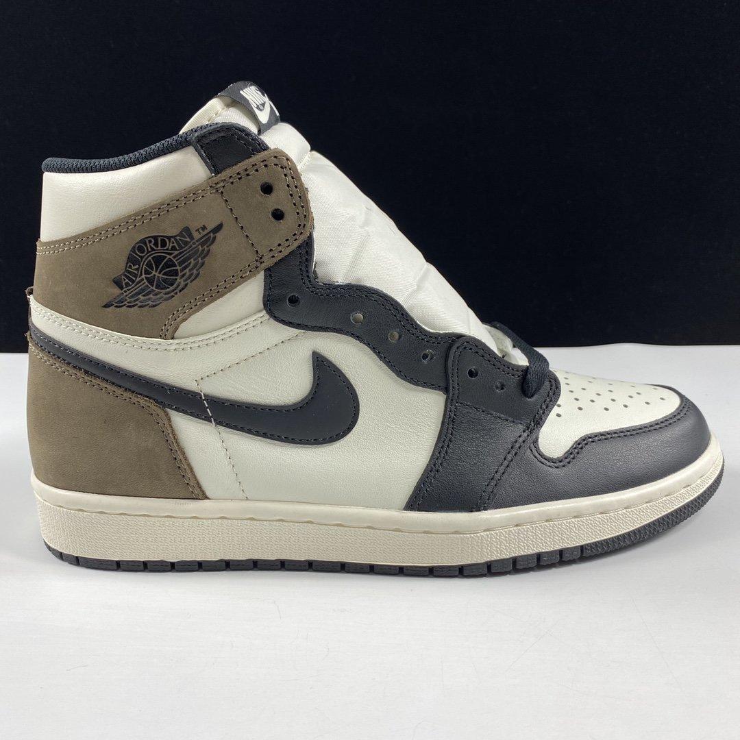 """Air Jordan 1 High OG"""" Dark Mocha"""" 东莞AJ黑摩卡 555088-105_ljr版本aj怎么样"""