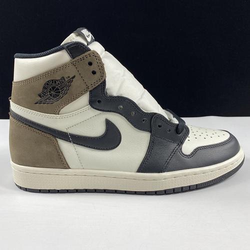 "Air Jordan 1 High OG"" Dark Mocha"" 东莞AJ黑摩卡 555088-105_莆田god版本"